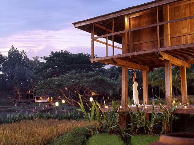 House for sale in Chiang Mai - yoga at dusk